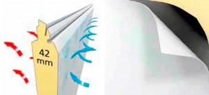 Oldalra nyíló Normstahl garázskapu kiváló hőszigeteléssel és kétrétegű felületvédelemmel