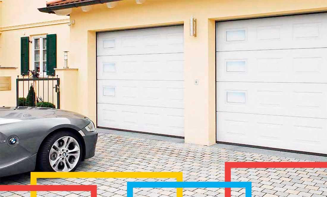 Smart 42 Normstahl garázskapu referencia bevilágító ablakokkal
