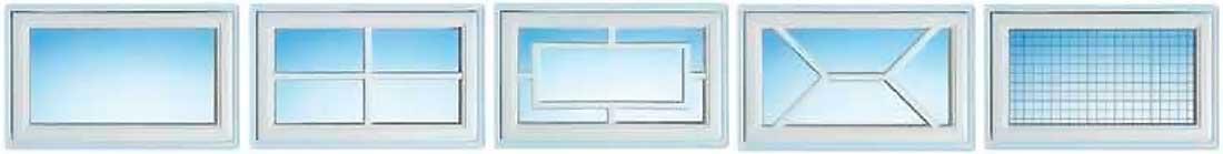 Superior+ 42 Normstahl garázskapu ablak-stílusok